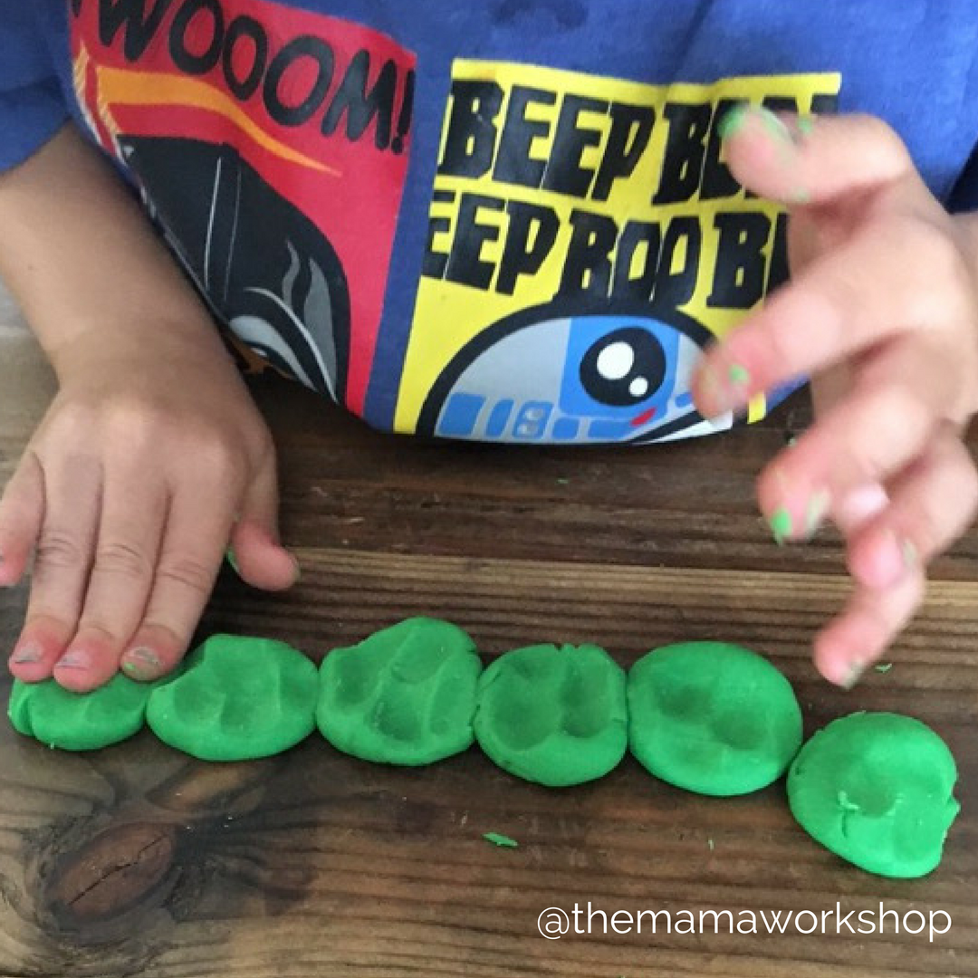 smashing green playdoh