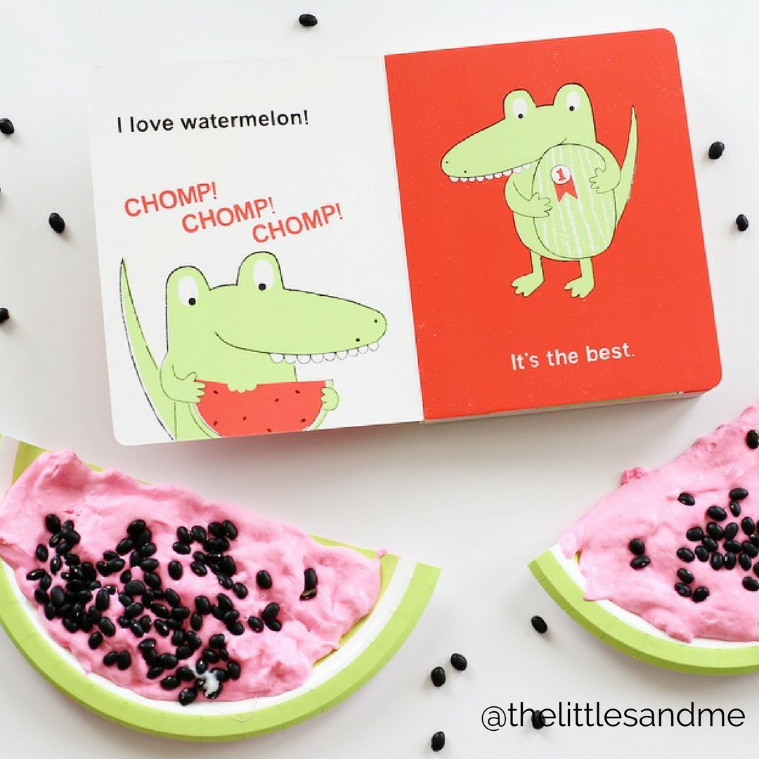 Easy Watermelon Slime by The Littles and Me