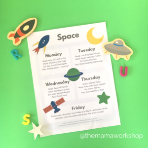 Space Week Printable