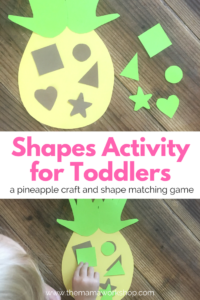 Toddler Shapes Activity