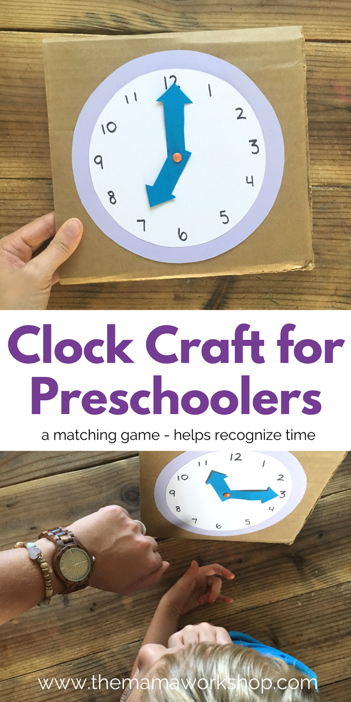 Clock Craft For Preschoolers The Mama Workshop