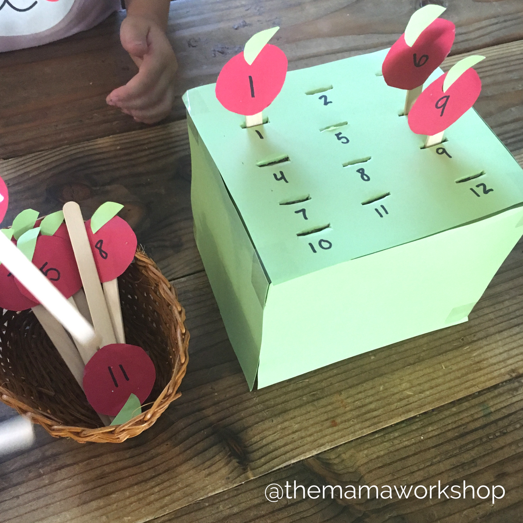 Matching Numbers - Apple Picking Activity