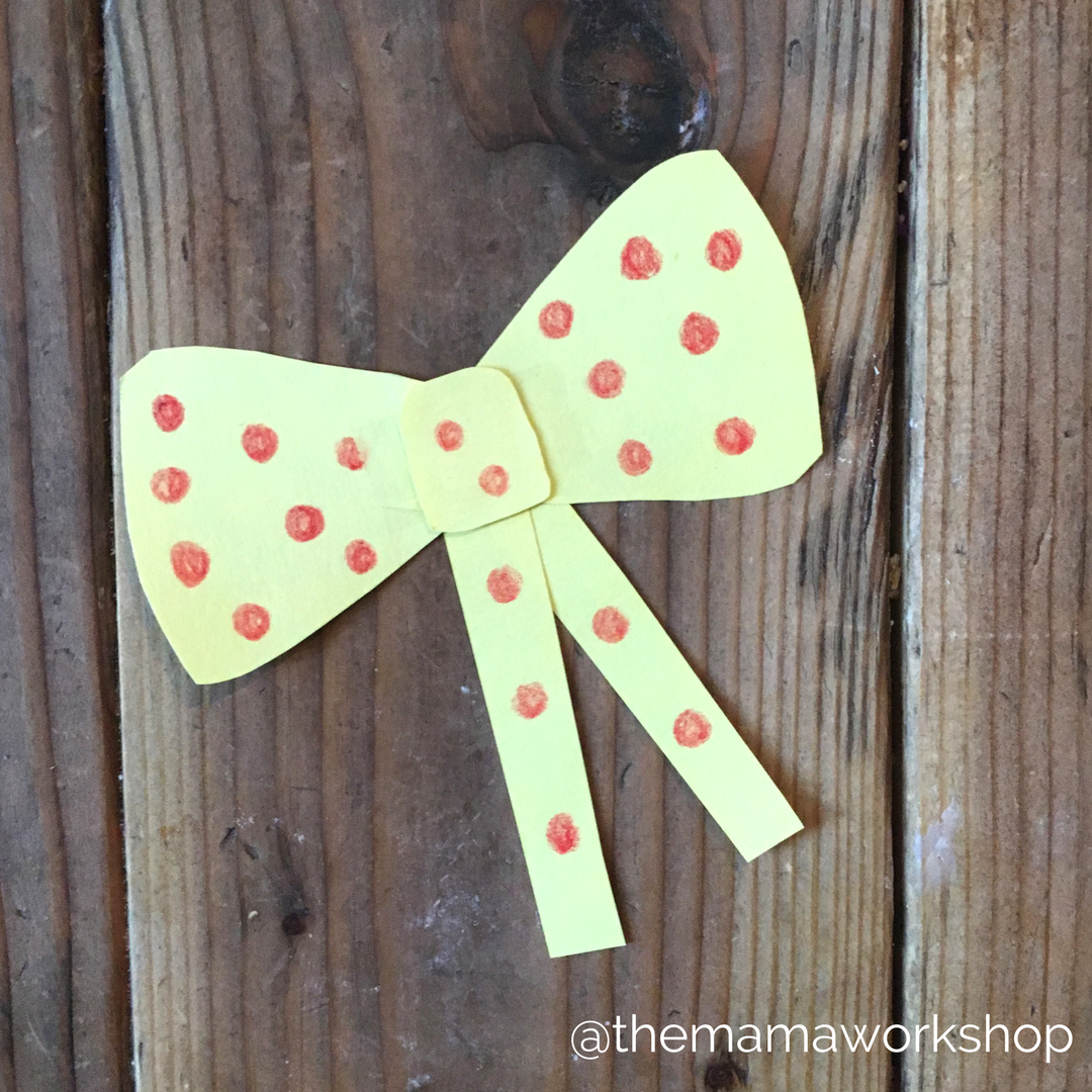 Room on the Broom Paper Bow