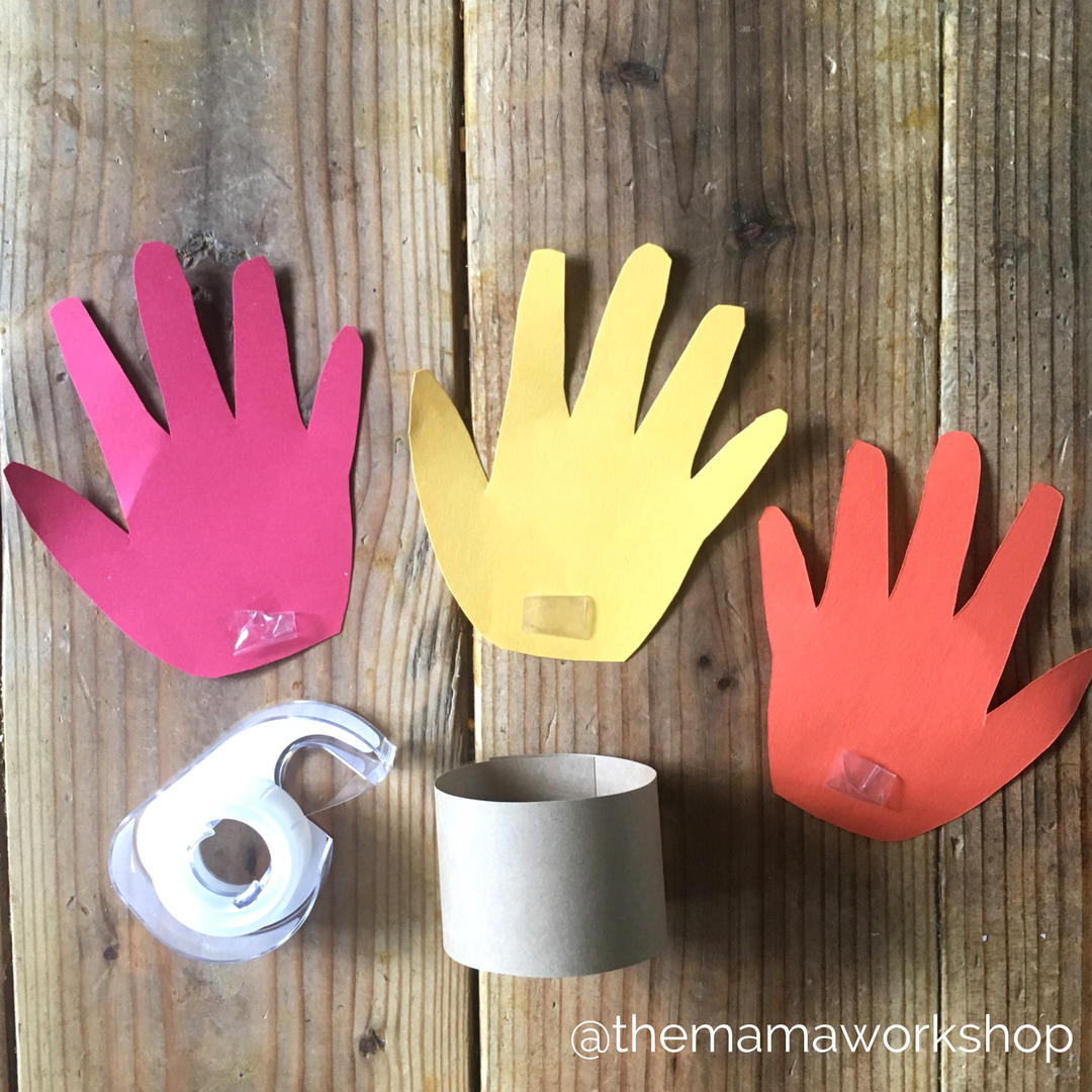 Hand Print Turkey Napkin Rings - Hand Prints