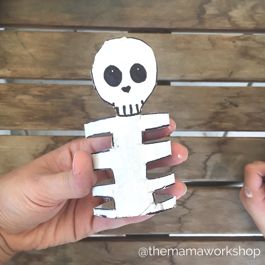 Skeleton Face - Skeleton Craft for Toddlers