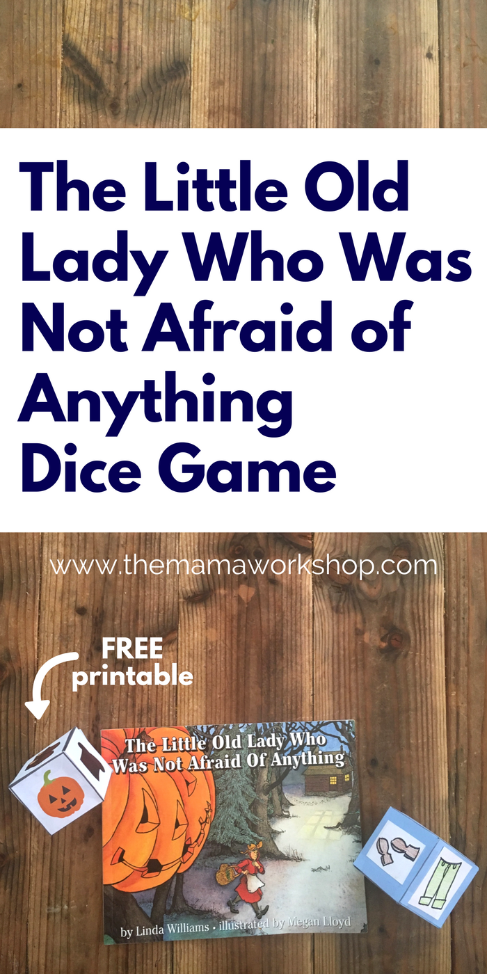 We are having so much fun reading The Little Old Lady Who Was Not Afraid of Anything and playing this dice game to review the sounds in the story! Make the craft or print the FREE printable!