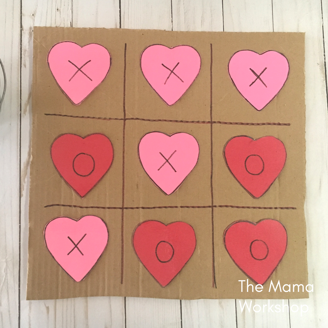 Valentine's Day Games for Toddlers - Tic Tac Toe Board